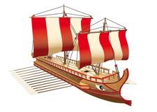 Navio de guerra de Greece ilustração do vetor