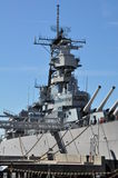 Navio de guerra de USS Wisconsin (BB-64) em Norfolk, Virgínia Imagem de Stock