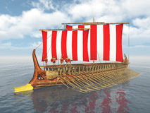 Navio de guerra do grego clássico Foto de Stock Royalty Free