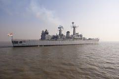 Navio de guerra indiano da marinha Fotografia de Stock