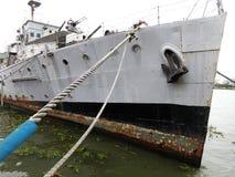 Navio de guerra militar de deterioração fotos de stock royalty free
