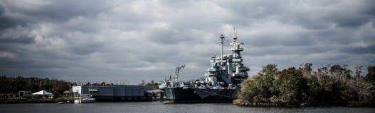 A navio de guerra North Carolina do Estados Unidos Fotografia de Stock Royalty Free