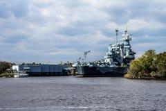 A navio de guerra North Carolina do Estados Unidos Fotos de Stock Royalty Free