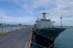 Navio de guerra tailandesa Imagem de Stock