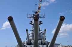 Navio de guerra USS Missouri Fotografia de Stock