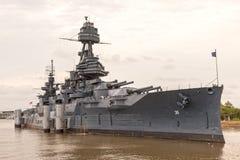 Navio de guerra USS Texas foto de stock
