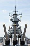 Navio de guerra USS Wisconsin Fotos de Stock Royalty Free
