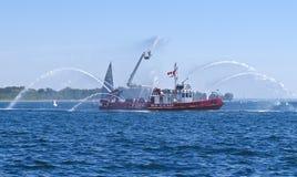 Navio de incêndio fotografia de stock