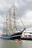 Navio de Kruzenshtern em Tallinn Fotos de Stock