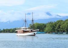 Navio de madeira histórico foto de stock
