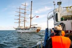 Navio de navigação, Le Quy Don Imagens de Stock