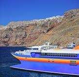 Navio de navigação no Mar Egeu fotografia de stock