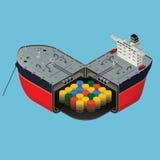 Navio de petroleiro Imagem de Stock