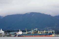 Navio de petroleiro no porto de Vancôver Imagem de Stock