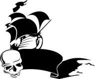 Navio de pirata ilustração stock