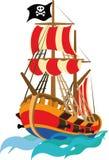 Navio de pirata engraçado ilustração stock
