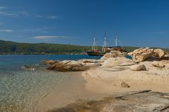 Navio de pirata turístico fotografia de stock