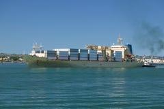 Navio de recipiente da carga Foto de Stock Royalty Free