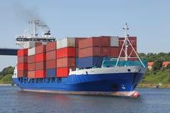 Navio de recipiente em Kiel Canal Fotos de Stock