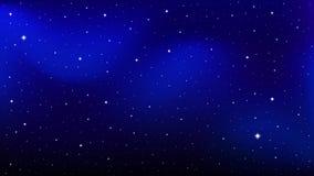 Navio de Rocket no espaço estrelado ilustração do vetor