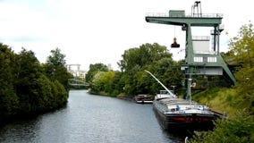 Navio de transporte no rio da série Foto de Stock Royalty Free