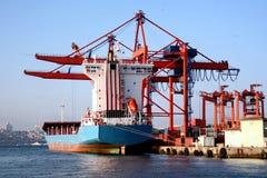Navio do cargueiro no doc Imagem de Stock