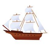 Navio do fantasma da embarcação do corsair do navio de pirata Imagens de Stock