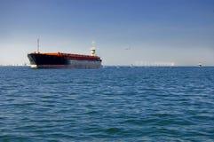 Navio do frete no mar Foto de Stock Royalty Free