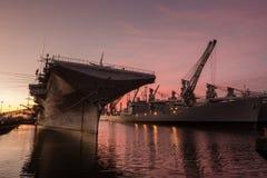 Navio do museu do zangão de USS Fotografia de Stock Royalty Free