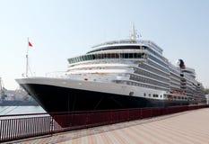 Navio do oceano a entrar na porta de Odessa, Ucrânia Foto de Stock