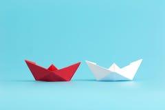 Navio do papel da liderança Imagens de Stock Royalty Free