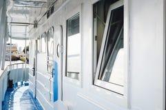 Navio do rio, interior foto de stock