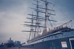 Navio do sark do cachimbo pequeno em Greenwich - Londres fotografia de stock