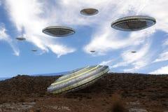 Navio do UFO do estrangeiro Fotografia de Stock Royalty Free