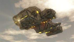 Navio do UFO do estrangeiro Imagem de Stock Royalty Free