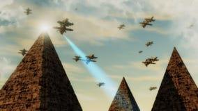 Navio do UFO do estrangeiro Foto de Stock Royalty Free