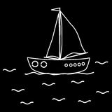 Navio do veleiro do iate Fotos de Stock