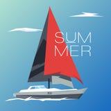 Navio do verão dos conceitos da ilustração do projeto Fotos de Stock Royalty Free