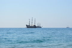 Navio do vintage no mar Fotografia de Stock