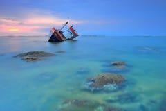 Navio encalhada Foto de Stock