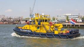 Navio holandês da autoridade portuária foto de stock