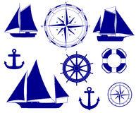 Navio Ilustração náutica do vetor da decoração Fotografia de Stock