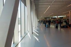 Navio internacional Värtahamnen terminal em Éstocolmo, Suécia Foto de Stock