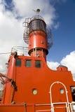 Navio leve em docas de Liverpool Foto de Stock