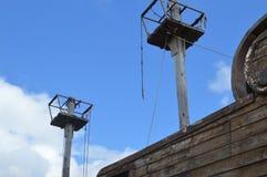 Navio losted de madeira da pirataria fotografia de stock