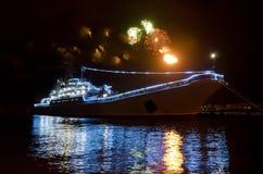 Navio militar e saudação do russo Foto de Stock Royalty Free