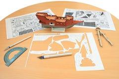 Navio modelo. fotografia de stock royalty free