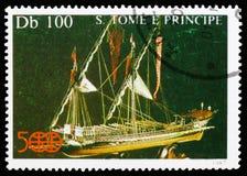 Navio modelo, descoberta de América, serie, cerca de 1987 foto de stock royalty free