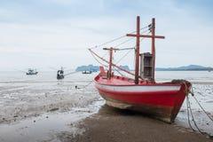 Navio na praia Fotografia de Stock Royalty Free
