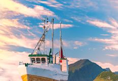 Navio no cais em Noruega, Europa Foto de Stock Royalty Free